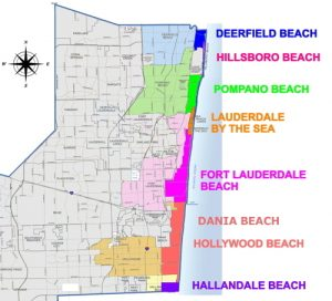 Broward County Beach Area Map